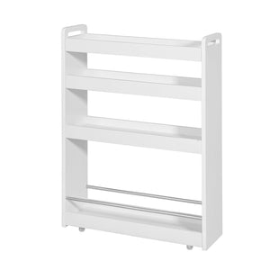 SoBuy Space Saving Bathroom Cabinet Space Saving Bathroom Storage Tray White Nsr01-W