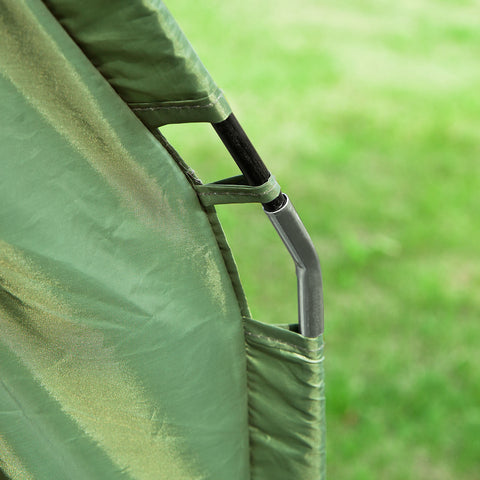 SoBuy Folding Camp Bed Camping Tents with Mattress and 1 Sleeping Bag Green, Max Load 160 kg, OGS32-GR