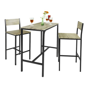 SoBuy Table And Chairs High Table Wooden Kitchen Table With 2 Ogt03 Chairs