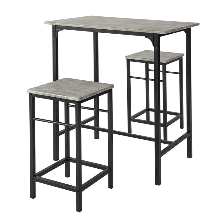 SoBuy Table And Chairs High Table Wooden Kitchen Table With 2 OGT10-HG Chairs