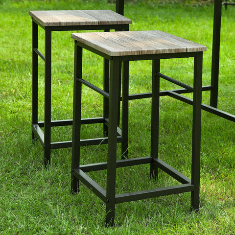 SoBuy Table And Chairs High Table Wooden Kitchen Table With 2 Chairs Ogt10-N