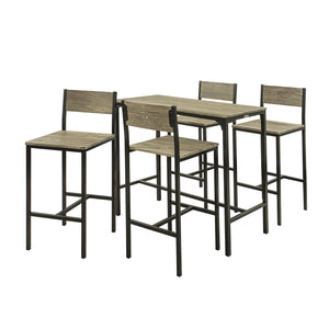 SoBuy Table And Chairs High Table Wooden Kitchen Table With 4 Ogt14 Chairs