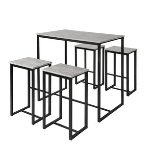 SoBuy table and chairs high table wooden kitchen table OGT15-HG