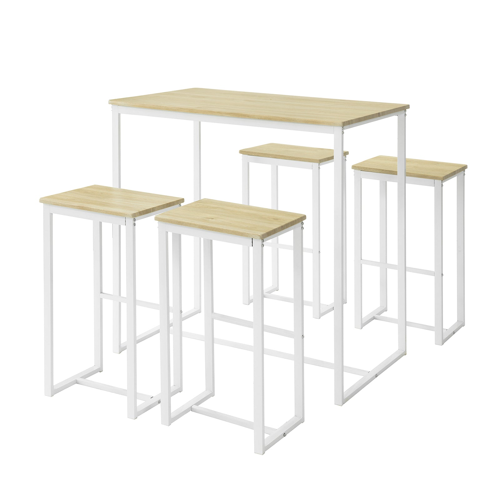 SoBuy Set 5 Table and Chairs High Table Kitchen Table OGT15-WN
