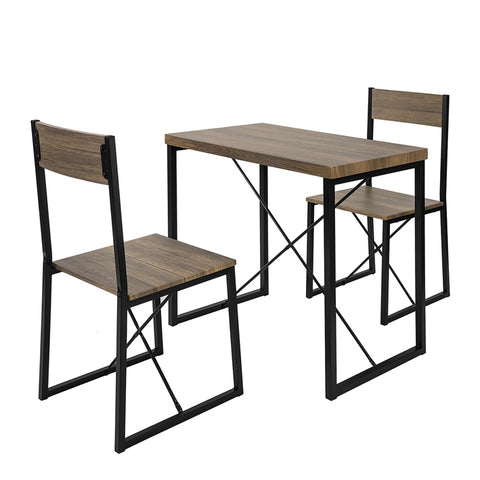 SoBuy Set Dining Table with 2 chairs Table and chairs Vintage Style Kitchen W80 * D50 * H75 cm, OGT19-N