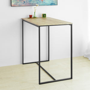 SoBuy High Bar Table Industrial Style Dining Table Metal Frame 100x60x96cm OGT26-N
