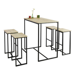SoBuy table and chairs high table wooden kitchen table OGT15-N
