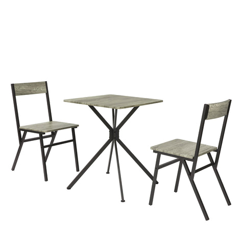 SoBuy 3-Piece Set Table with 2 Stools Kitchen Cabinet Chairs for Dining Room Vintage Style, Height 76 cm, OGT37-N