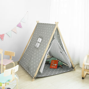 SoBuy Tent Indians Children Teepee Children Playhouses Children Wooden Playhouses OSS02-ST