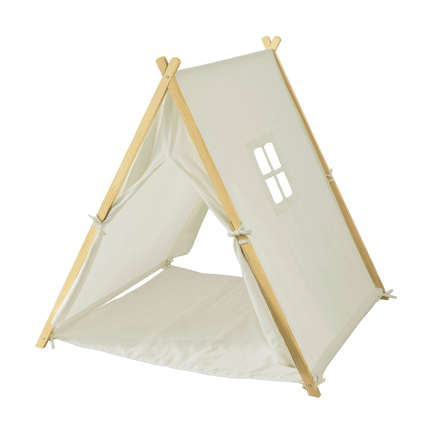 SoBuy Children's play tent Indian tent with 2 doors and a window White toy curtains OSS02-W