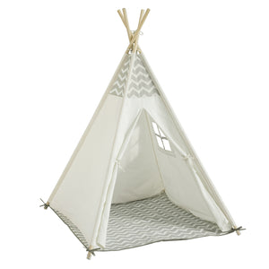 SoBuy Tent Indians Children Teepee Children Playhouses Children Wooden Playhouses OSS03-WHG