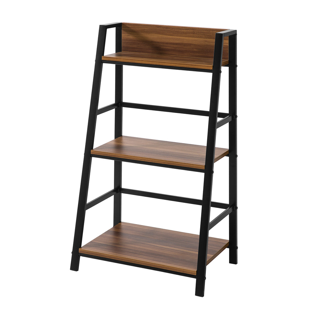 SoBuy 3-Tier Wooden Ladder Shelving Storage Rack Brown STR01-N