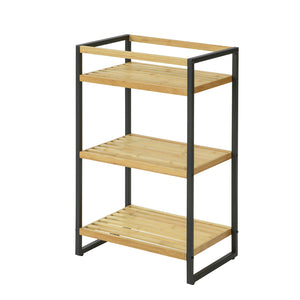 SoBuy Bamboo Shelf Storage Shelf with 3 Shelves 43x30x70cm STR05-KN