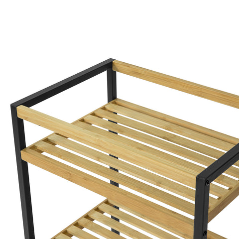 SoBuy Bamboo Shelf Storage Shelf με 3 Ράφια 43x30x70cm STR05-KN
