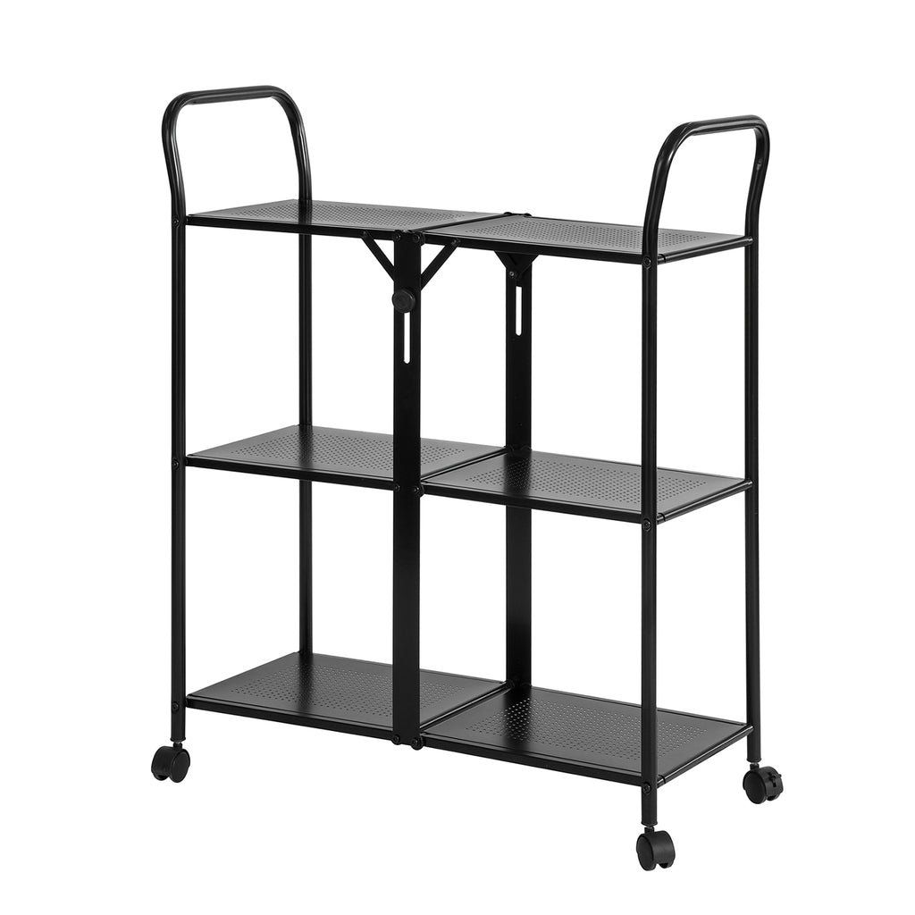 SoBuy Trolley Kitchen Trolley Food Trolley Kitchen Trolley Collapsible Tool Trolley, SVW02-SCH