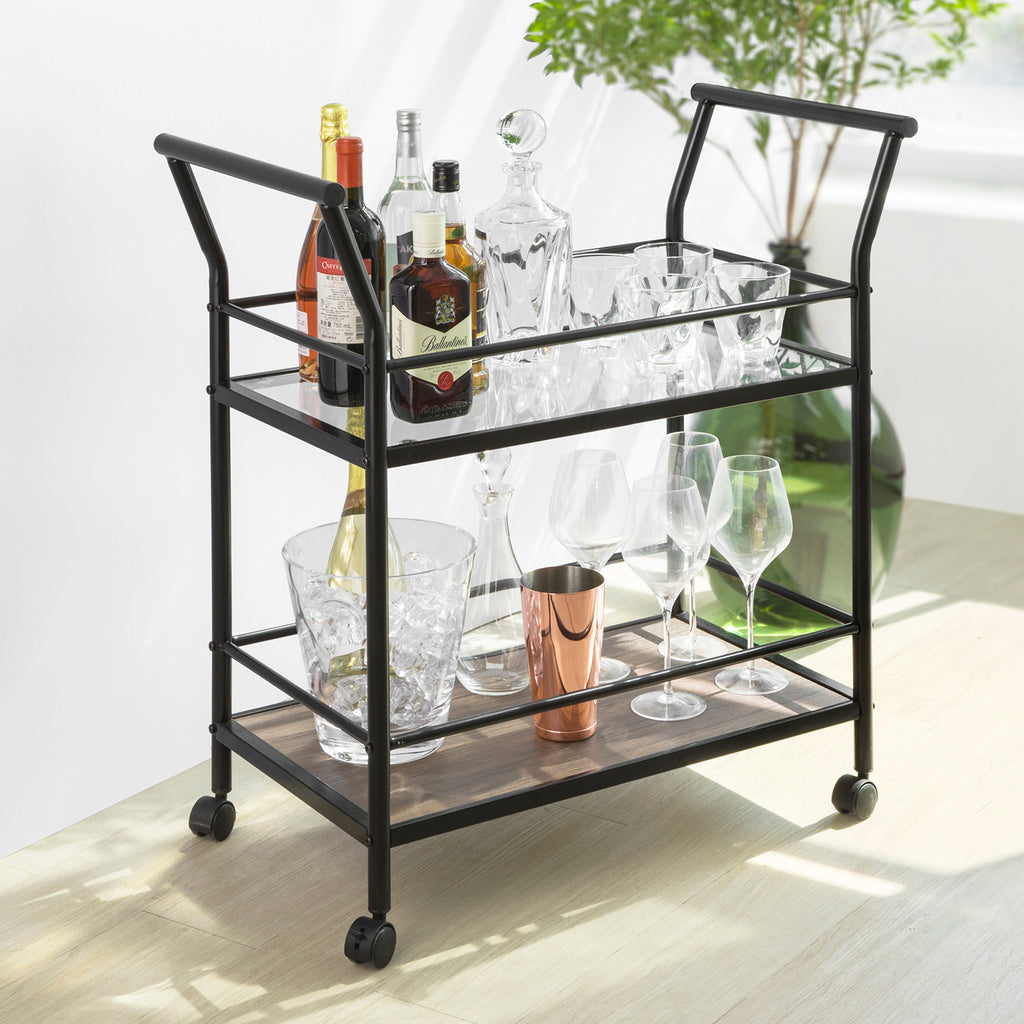 SoBuy Trolley Kitchen Trolley Food Trolley Kitchen Trolley Tool Trolley SVW03-SCH