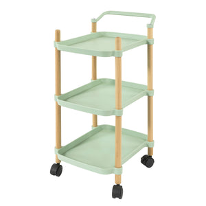 SoBuy Kitchen Cart Serving Cart Servering Cart Kitchen Cart with Wheels, Green, SVW06-GR