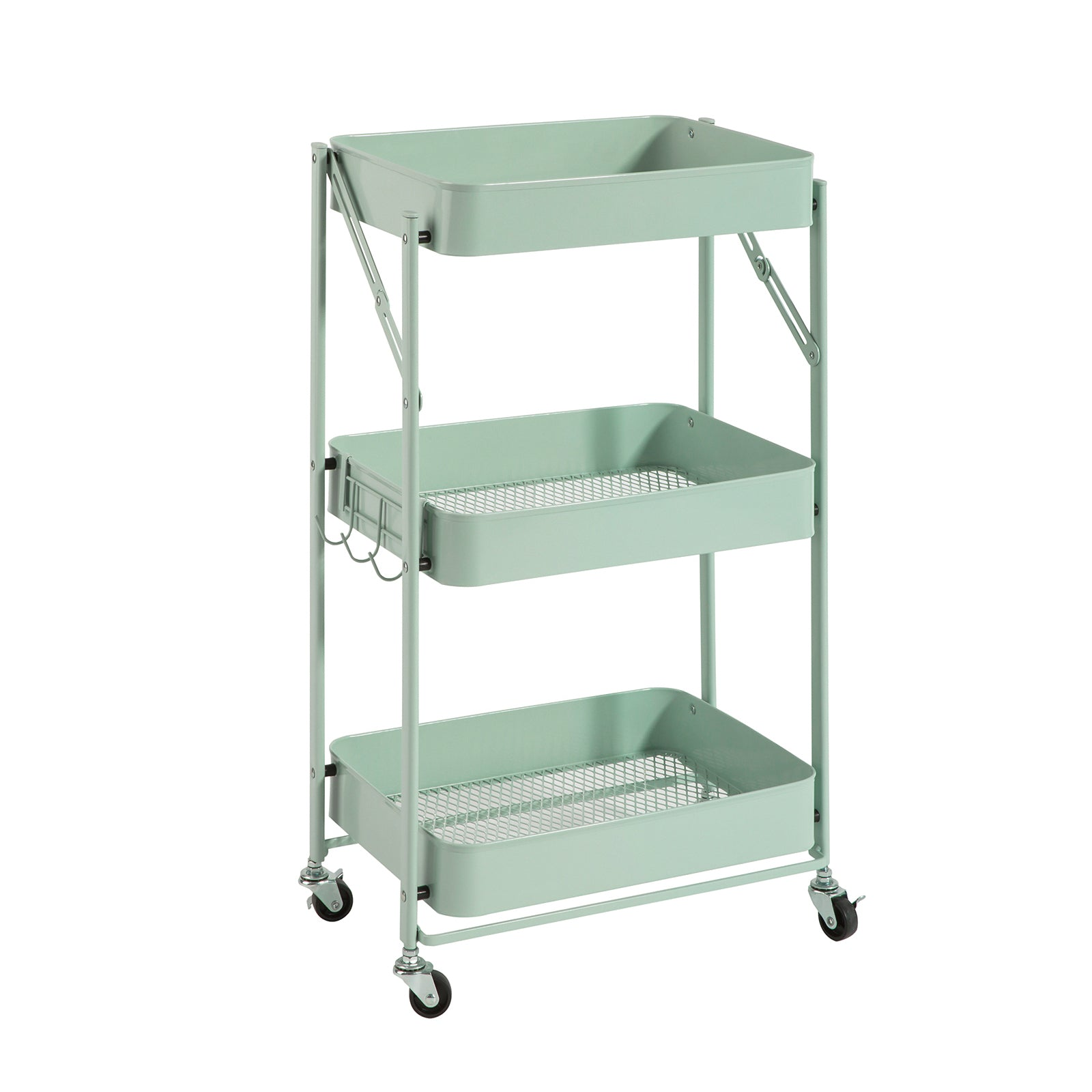 Sobuy Kitchen Trolley Food Trolley Space Saving Trolley Black With Route Svw12 Hb Sobuy It