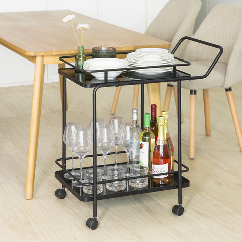 SoBuy Trolley Kitchen Trolley Food Trolley Kitchen Trolley Tool Trolley SVW14-SCH