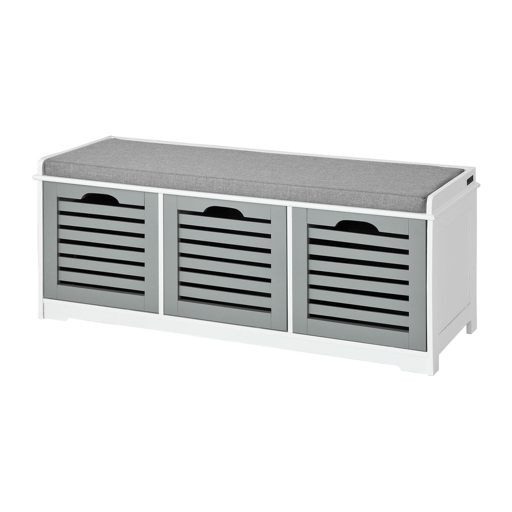 SoBuy Shoe Rack Bench Shoe Rack Gray With Seat Fsr23-Hg