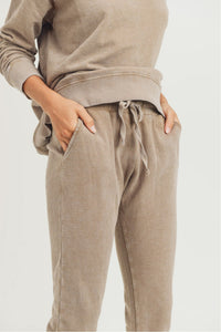 Mineral-Wash Terry Sweatpants