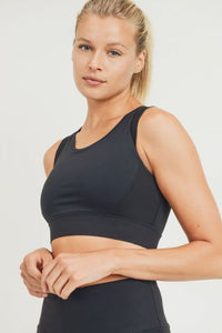 Ribbed Panel Sports Bra