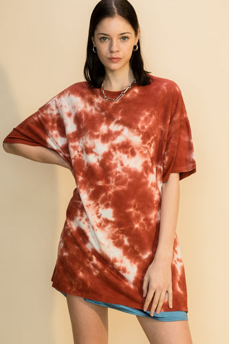 Tie-Dye Distressed Oversized T-Shirt
