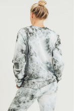 Load image into Gallery viewer, Clouds Tie Dye Terry Pullover