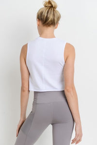 Side Overlay Crop Supima® Cotton Tank Top
