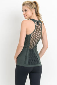 Lattice Combo Detail Tank Top