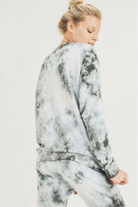 Clouds Tie Dye Terry Pullover