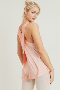 Open Back Overlay Flowy Muscle Tank
