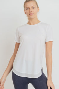 No-Sew Cool-Touch Mesh Panel Athleisure Shirt