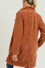 Load image into Gallery viewer, Notched Collar Faux Fur Coat