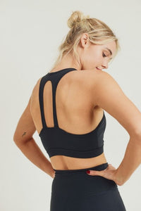 GREEN Essential Twin Straps Racerback Sports Bra