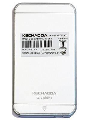 Kechaoda K66 (Red colour)1 44 inch QQVGA Display Slim Credit Card Size  Mobile Phone GSM Single SIM Keypad Mobile With Bluetooth Connectivity (BT