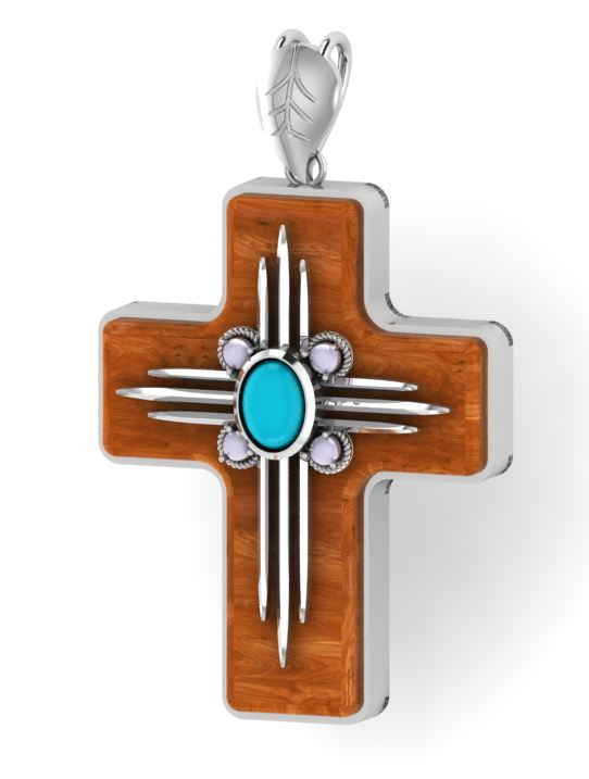 The Serenity Cross Pendant--Silver