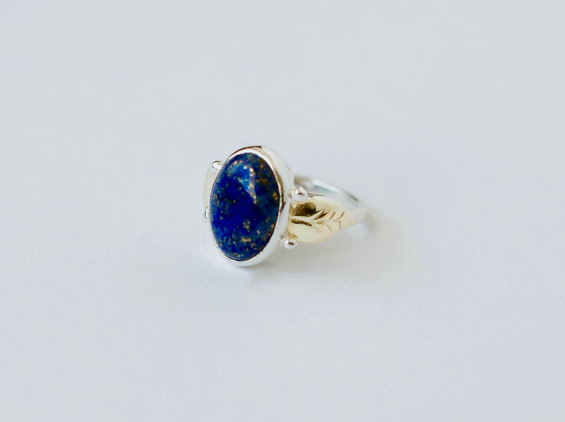 Full Bloom Lapis Ring