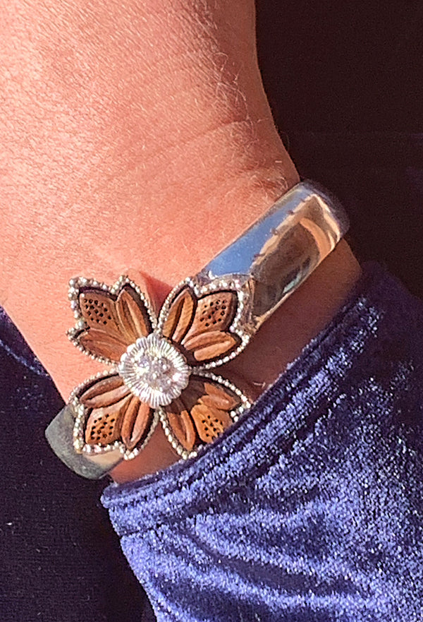 NEW and ON SALE! Silver Wildflower Cuff