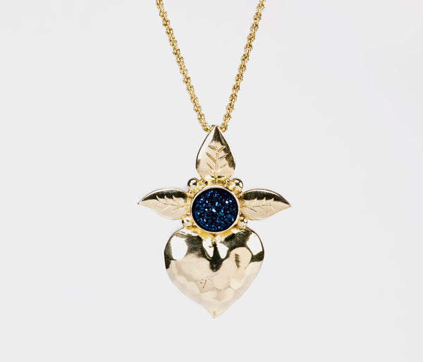 A CELEBRITY FAVORITE: The Gold Fearless Heart Pendant