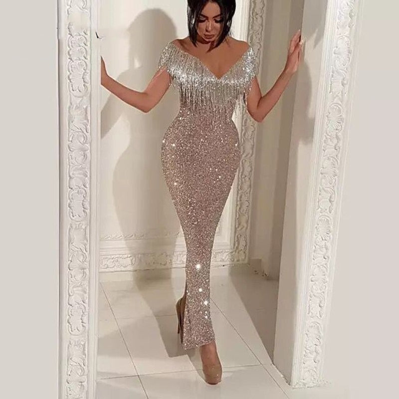 Long Mermaid Glitter Abendkleider Saudi Arabic Women Evening Dresses 2018 Avondjurken 2018 Custom Made