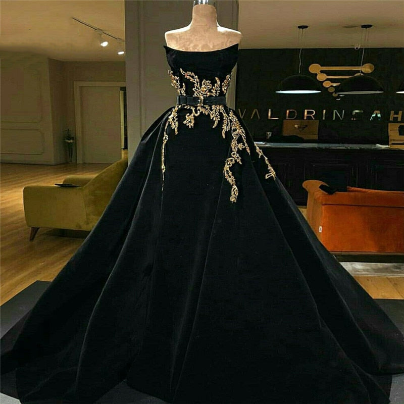 Black Long Evening Dress 2018 Newest Formal Evening Gown Party Dress