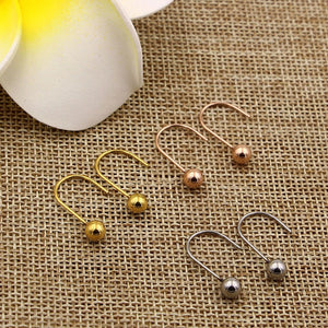 YUN RUO New Arrival Fashion Sweet Little Bead Stud Earring Rose Gold Color Woman Girl Gift Titanium Steel Jewelry Never Fade