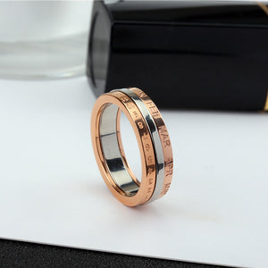 YUN RUO 2017 Rose Gold Personality Rotatable Number Ring for Woman Man Gift 316L Stainless Steel Jewelry High Polish Never Fade