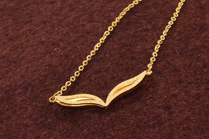 Fashion Brand Woman Jewelry Rose Gold Silver Color Fox Eyes Pendant Necklace