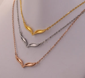 YUN RUO Fashion Brand Woman Jewelry Rose Gold Silver Color Fox Eyes Pendant Necklace 316 L Stainless Steel Jewelry High Polish