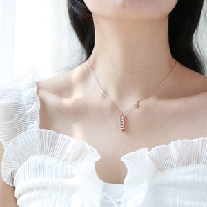 YUN RUO 2018 New Rose Gold Color Luxury Qualities Fashion Red Heart Pendant Necklace Titanium Steel Jewelry Woman Gift Not Fade