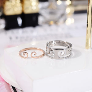 YUN RUO 2018 New Arrival 2 In 1 Couple Ring Rose Gold Color Fashion Titanium Steel Jewelry Wedding Birthday Gift Woman Not Fade