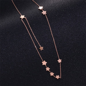 Fashion Star Pendant Necklace gold plated for Woman Jewelry