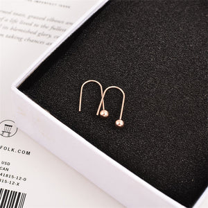 New Arrival Fashion Sweet Little Bead Stud Earring Rose Gold